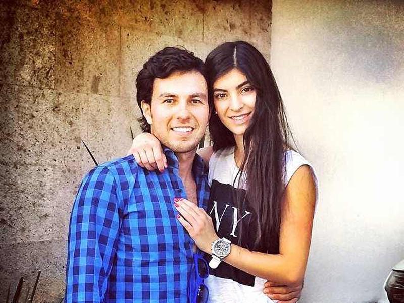 Sergio Pérez with beautiful, Girlfriend Andrea Campillo