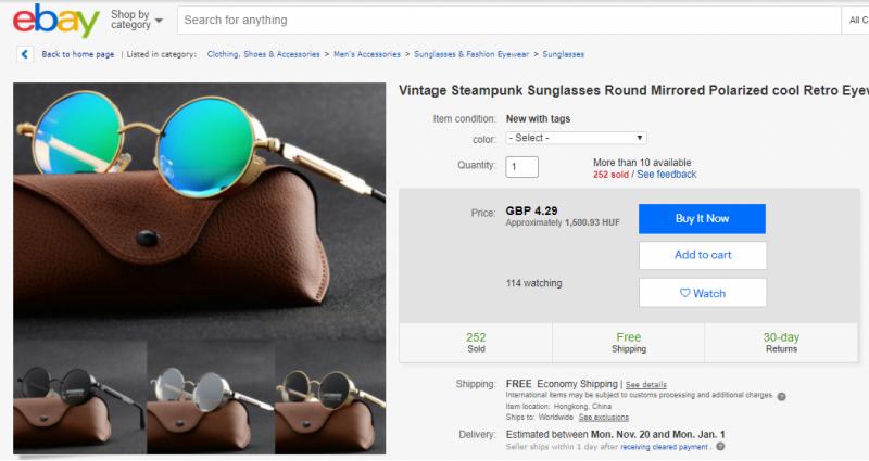 Ami az eBay-en már csak 1500 forintba kerül és Kínából származik.