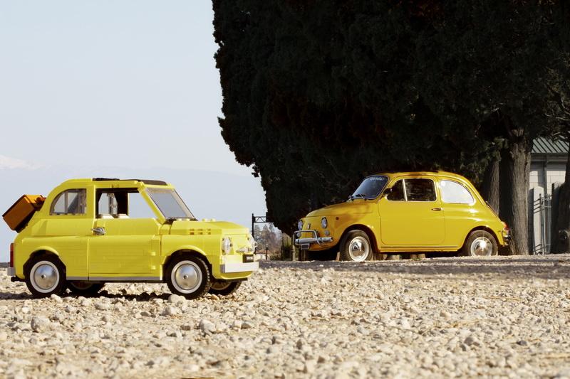 LEGO Creator Expert_FIAT 500_modell és eredeti autó_resize
