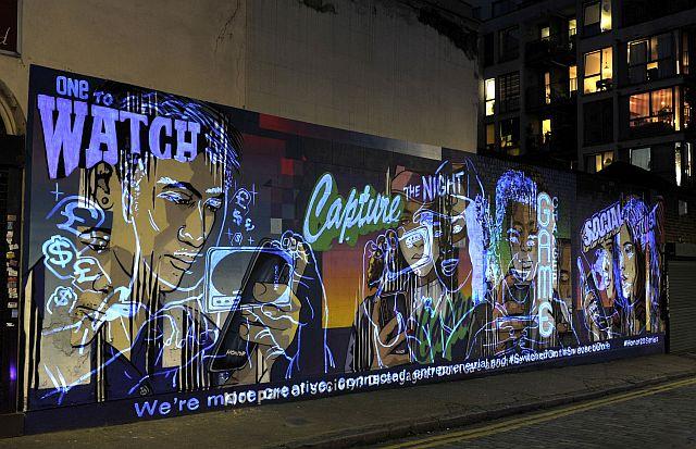 Graffiti fal éjjel_London